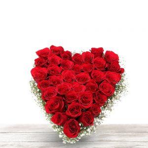 heart of red flower for love & valentine