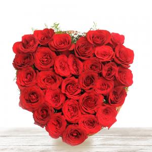 heart of red flower